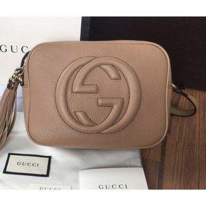 NWT🍓Gu cci🍓 Soho Small Leather Disco Bag